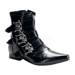 Costume-Mens Skull Ankle Boots